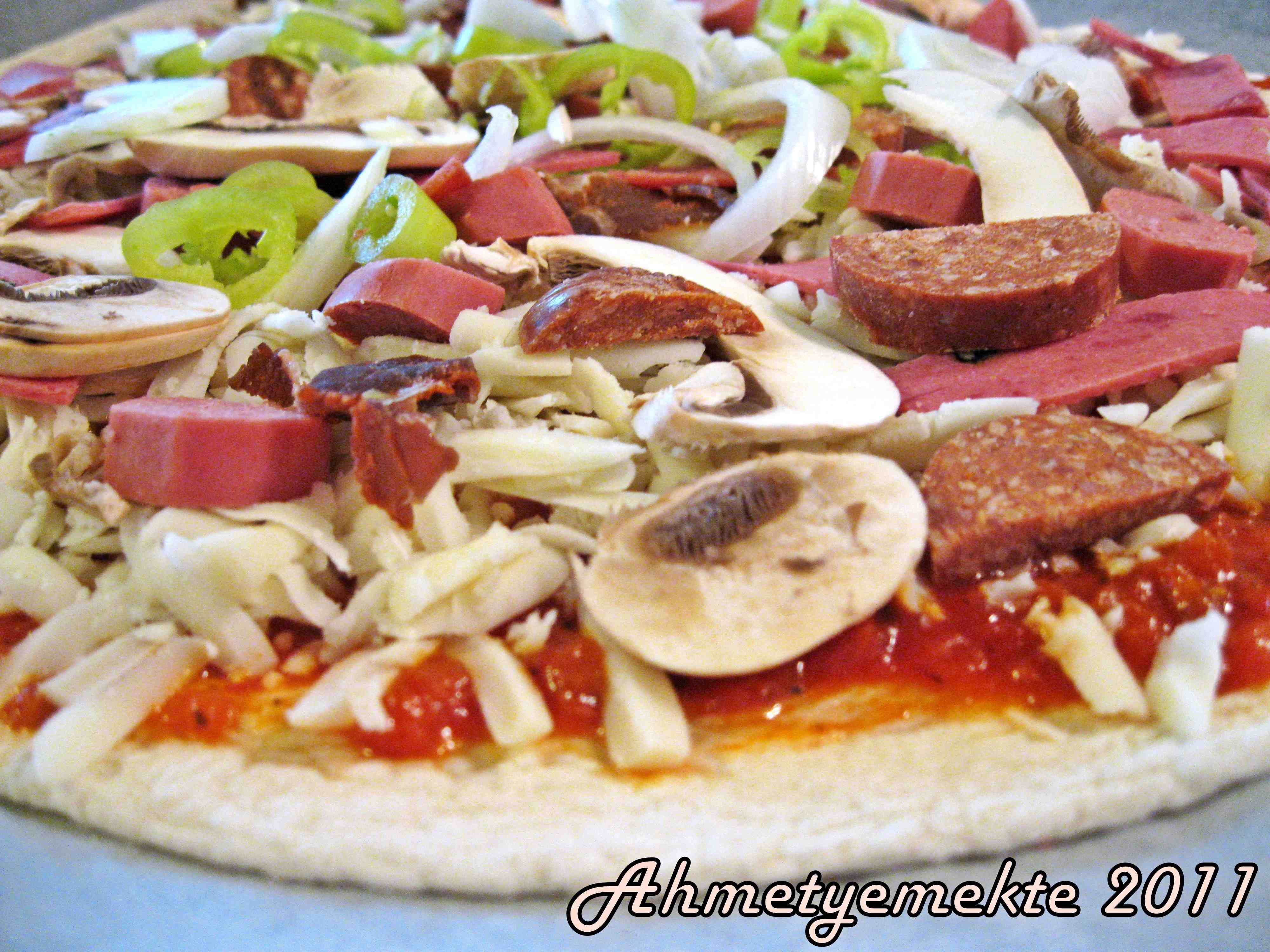Beyaz pizza tarifi